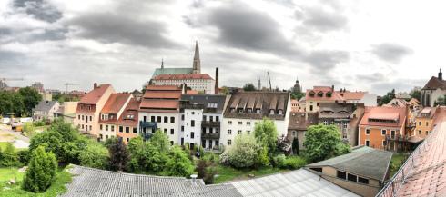 Blick aus dem Panoramafenster in der Dachgeschosswohnung